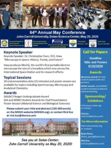 2020 SAS May Conference Call for Papers